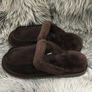 Nuknuuk Men's Leather Slipper's   Size 8   Brown
